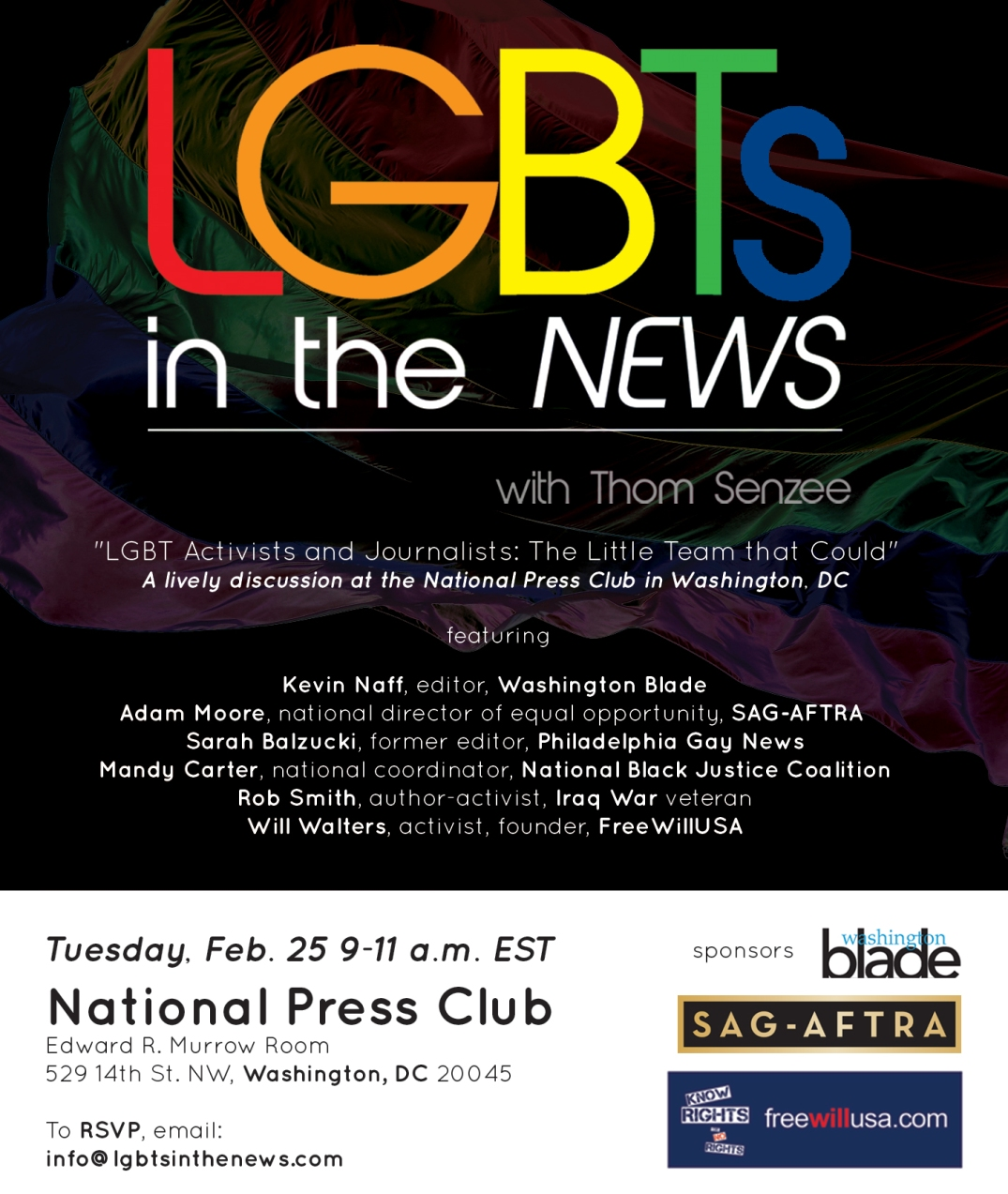 LGBTs In The News comes to the National Press Club in Washington, D.C., Feb. 25
